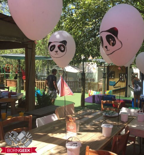 decor for panda themed birthday party
