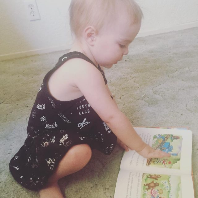 My little bookworm loves her first free monthly book fromhellip