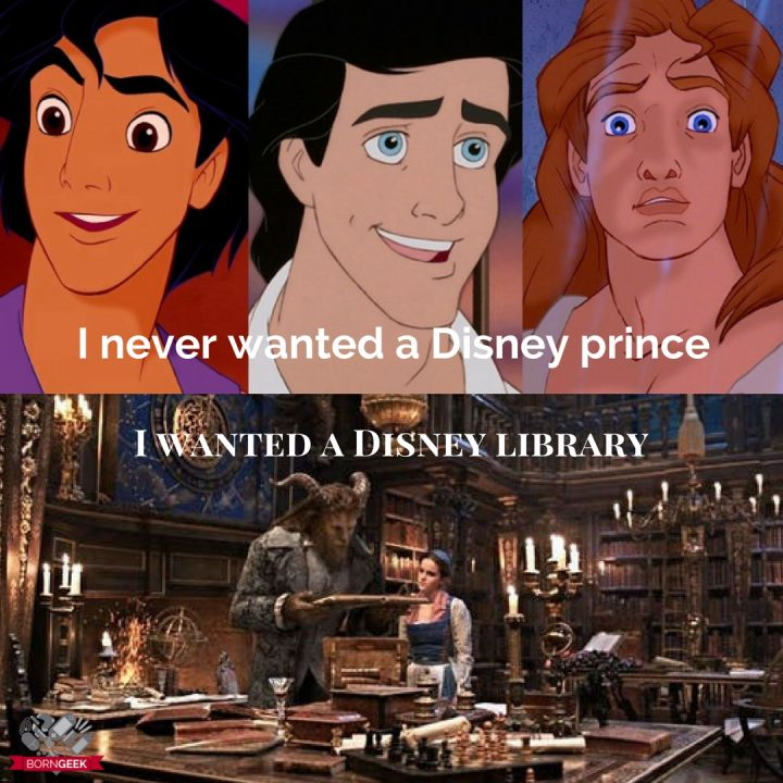 What kind of geek am I? The kind that wanted a Disney library instead of a Disney Prince