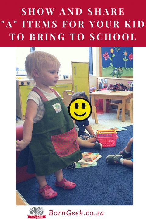 """Show and share """"A"""" Items for your kid to bring to school"""