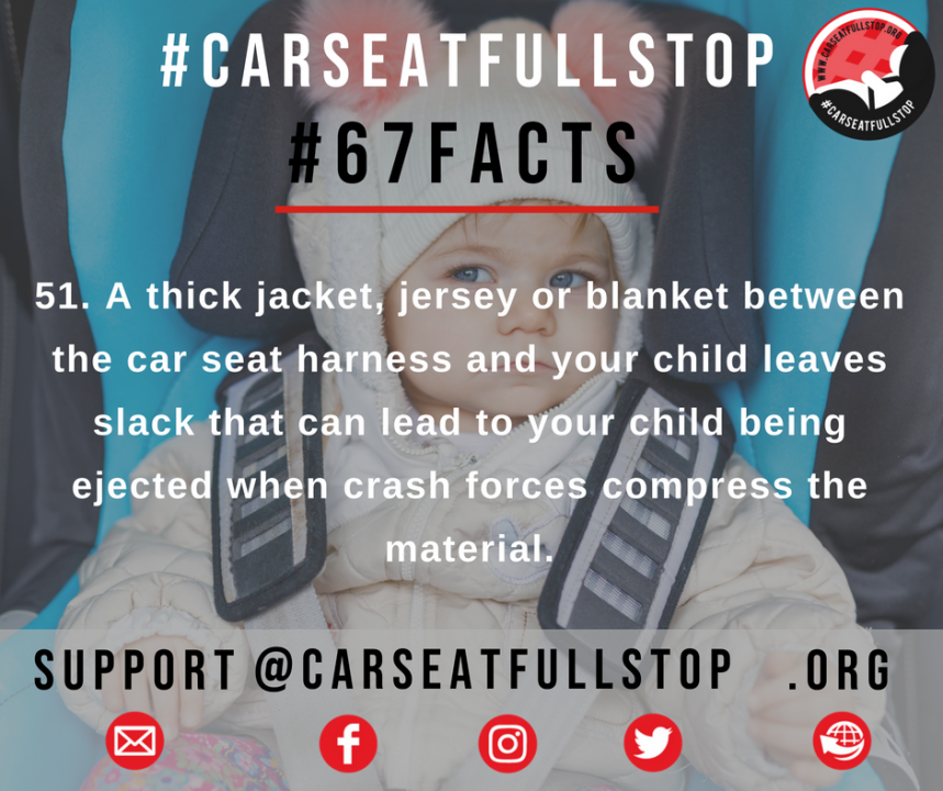 Bulky Clothes in car seats